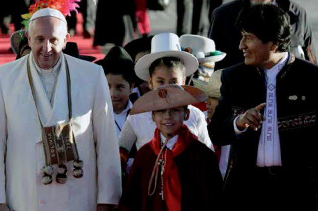 Francisco cercano al pueblo boliviano