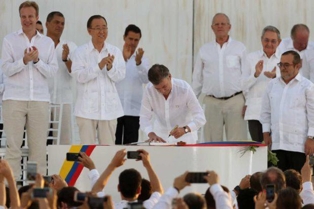 Un hito en la ardua tarea de la paz de Colombia