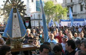 Raúl Molina y la Virgen de Luján